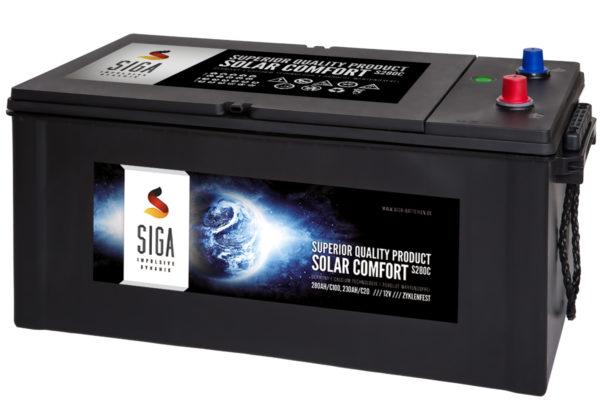 Solarbatterie Kalzium 12V 230Ah c20 / 280Ah c100, zyklenfest und wartungsfrei