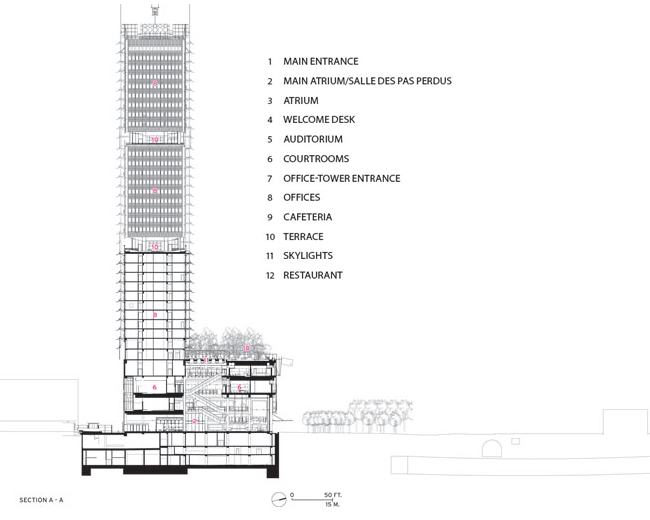 skyscraper section