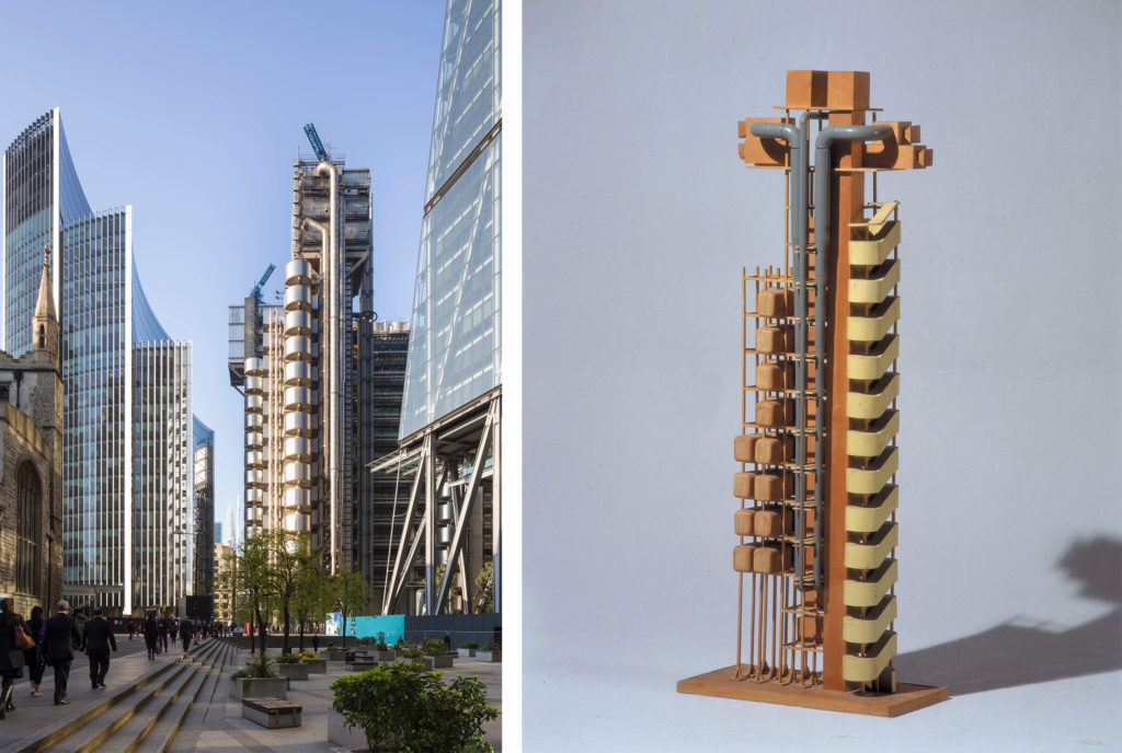 Lloyd's of London building and model