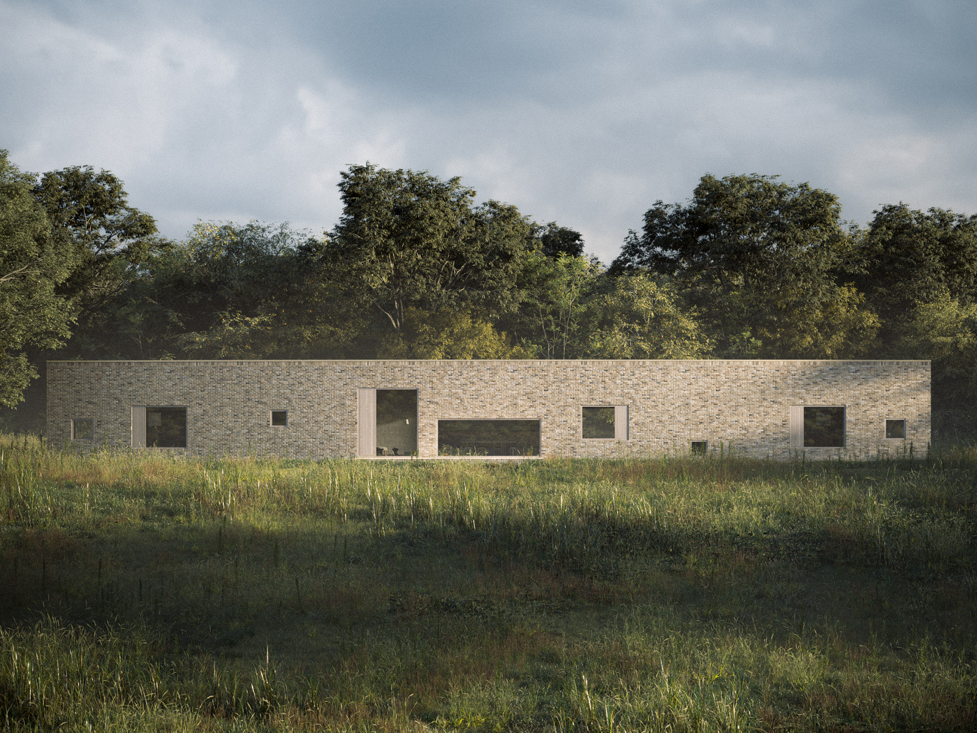 Meditating on Circulation Hall House by WOJR: Organization for Architecture, Germantown, NY