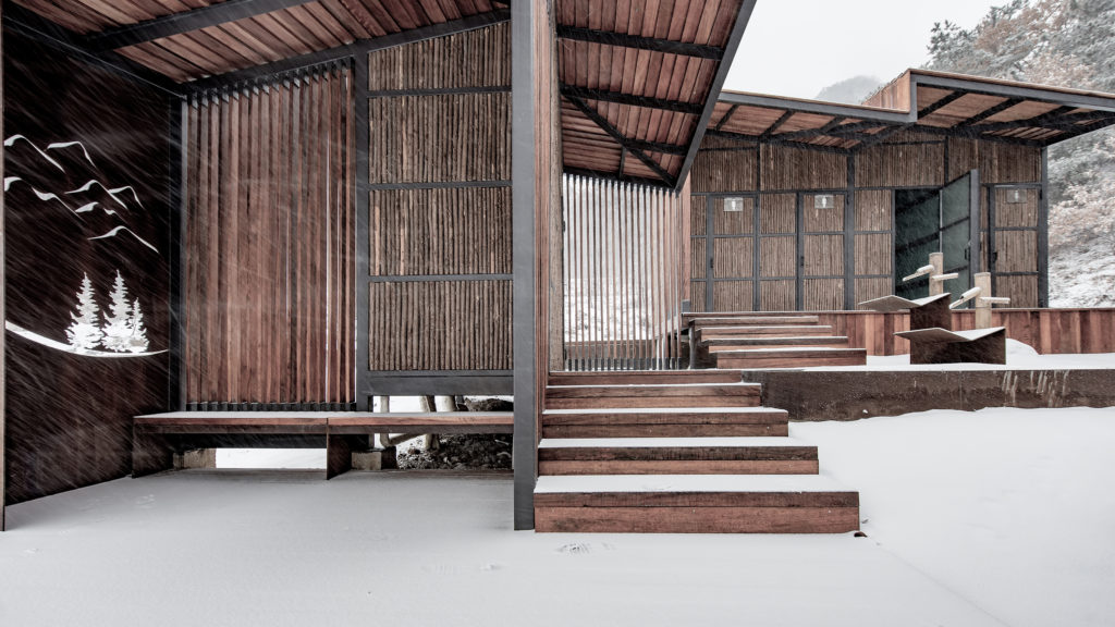architectural material Restroom in the Mountains by Atelier Scale, Yantai, China