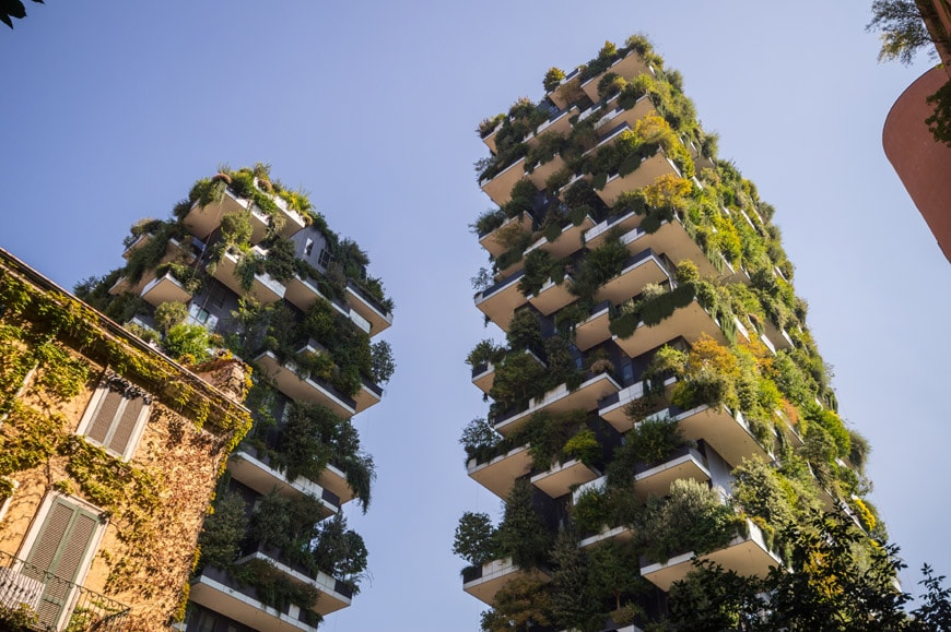 Bosco Verticale greenwashed rendering urban forest